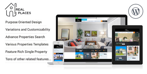 ThemeForest - Real Places v1.0.1 - Responsive WordPress Real Estate Theme - 12579089