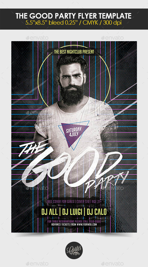 flyer template psd - the good party