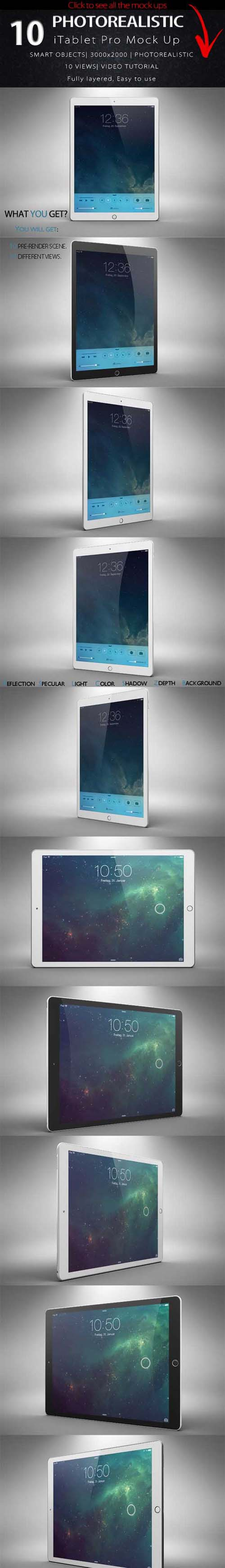 BUNDLE New iPad Pro Mock Up