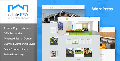 ThemeForest - Estate Pro v1.0.0 - Real Estate WordPress Theme - 12589690
