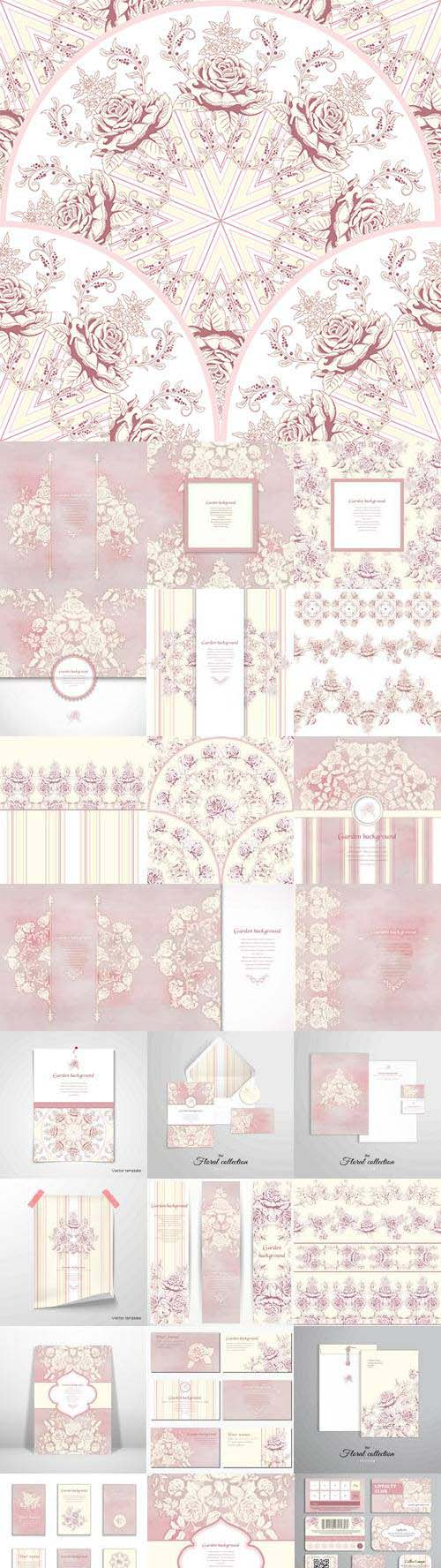 Vector Set Of Floral Concept