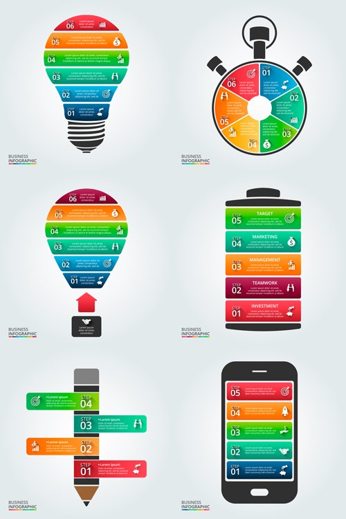 Infographic template for diagram, graph, presentation and chart - Vectors