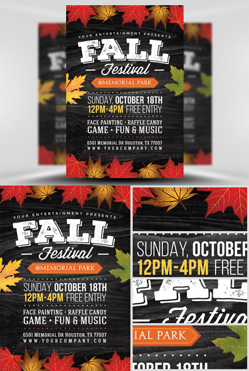 fall festival flyers template