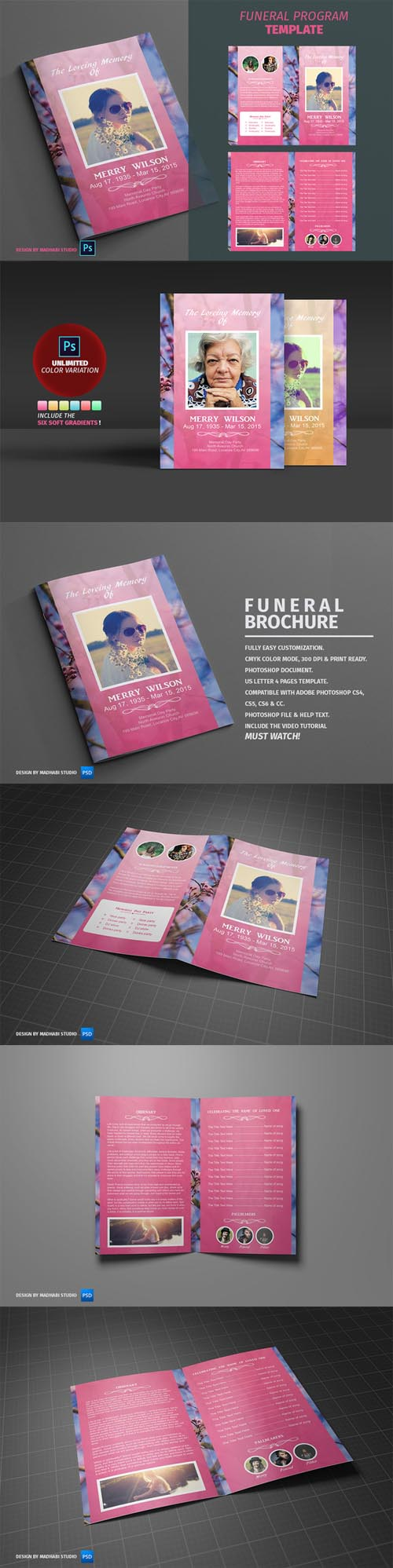 Funeral Program Template vol01