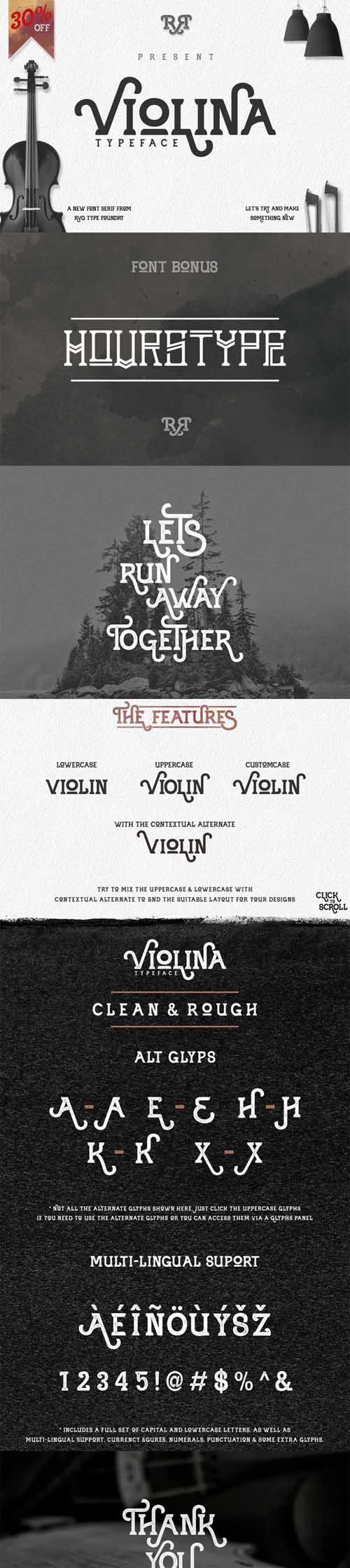 Violina Typeface Font