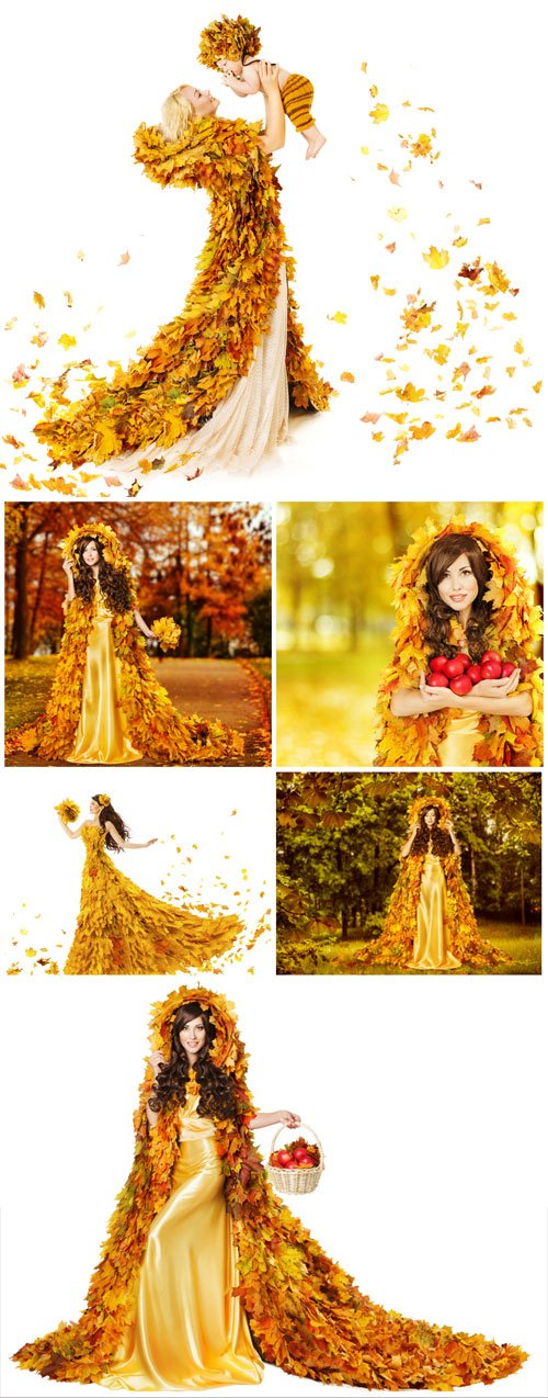 Woman in the image of the autumn - Stock photo
