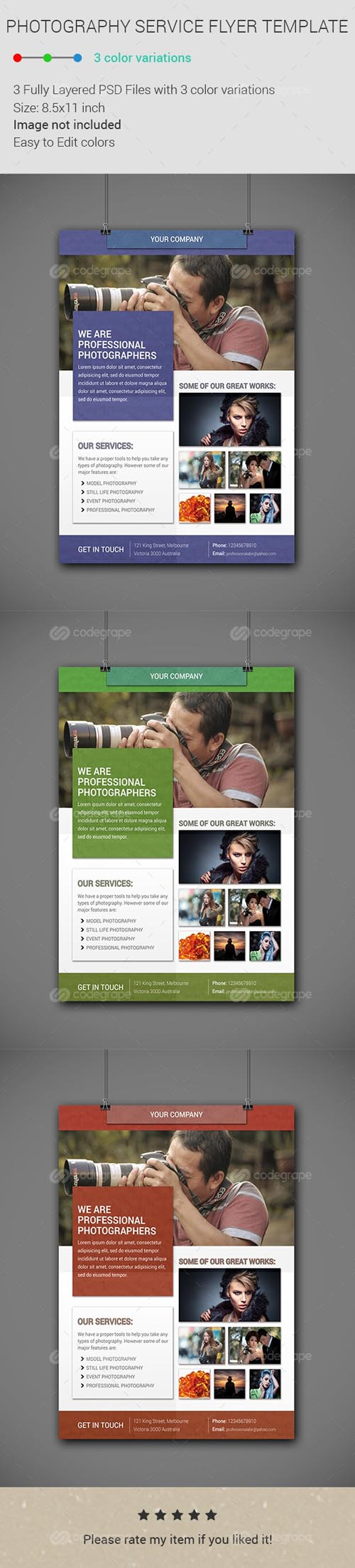 PSD - Photography Service Flyer Template