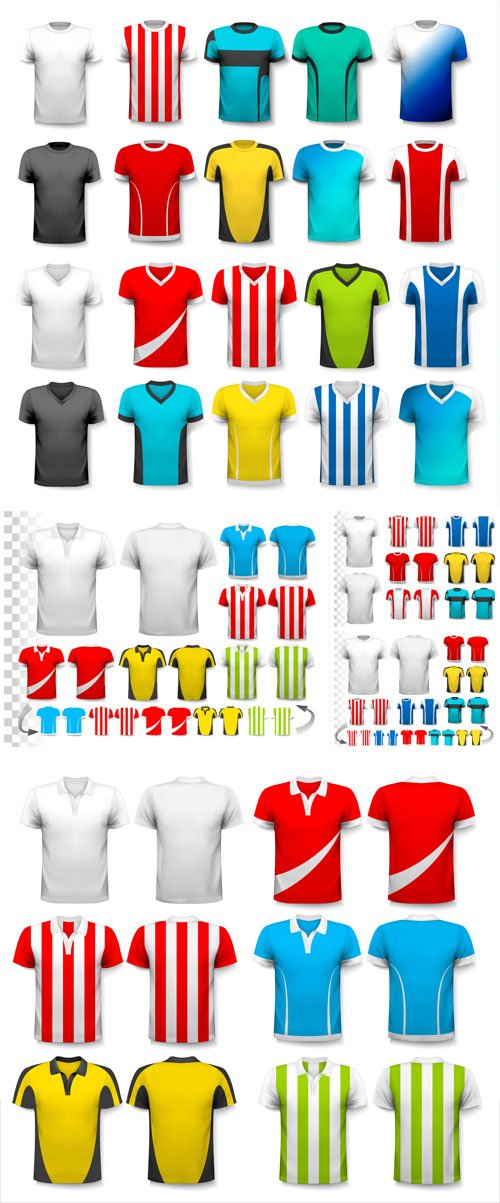 Set of shirt design template