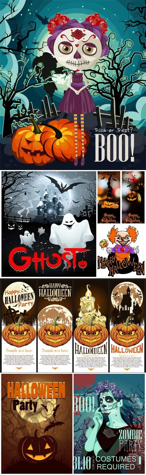 Halloween, posters, backgrounds vector