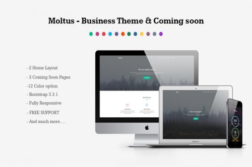 Moltus - Onepage Coming Pages - CM 350388