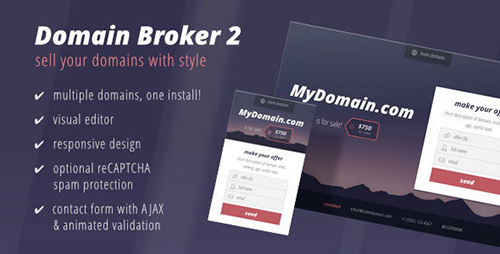 ThemeForest - Domain Broker 2 v1.0.0 - Landing Page to Sell Domains - 12578919