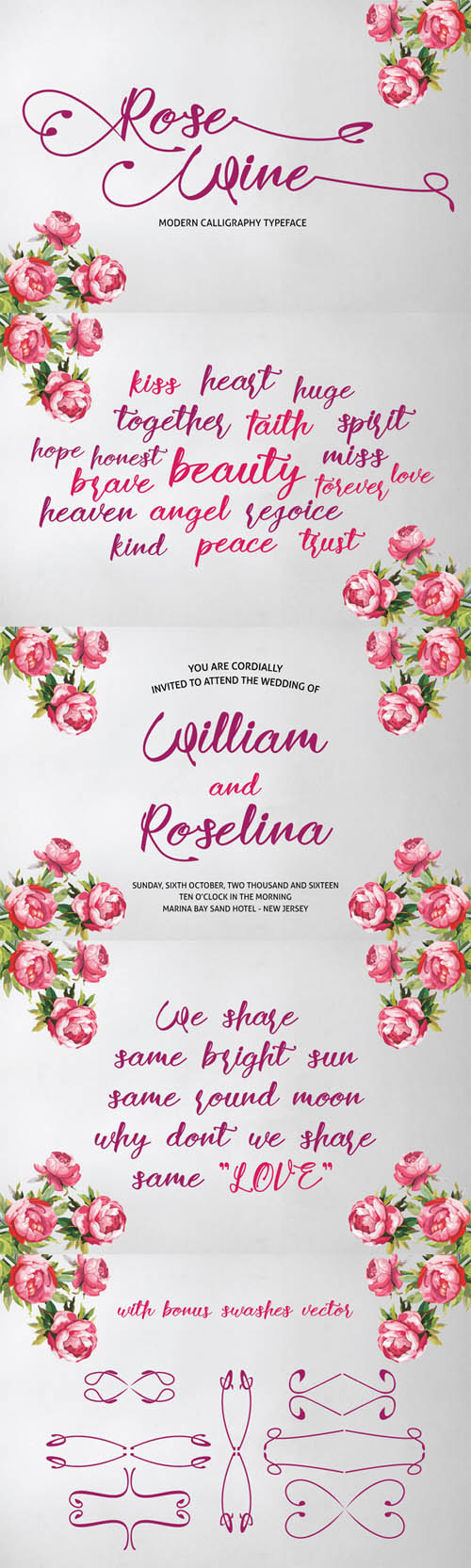 Font - Rose Wine Typeface