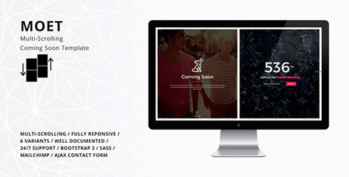 ThemeForest - MOET - Multi-Scrolling Coming Soon Template (Update: 7 August 15) - 12113616