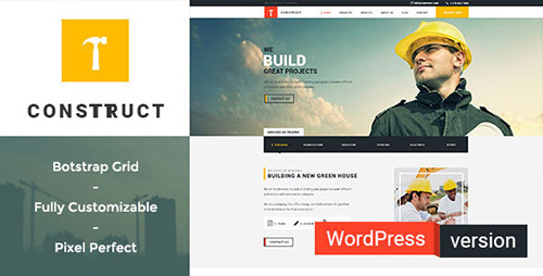 ThemeForest - Construct v1.0 - Construction Building WordPress Theme - 12792559