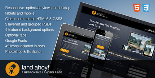 ThemeForest - Land Ahoy v1.0 - A Responsive Landing Page Template - 1557262