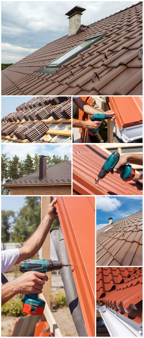 Metal tiles, a new roof construction