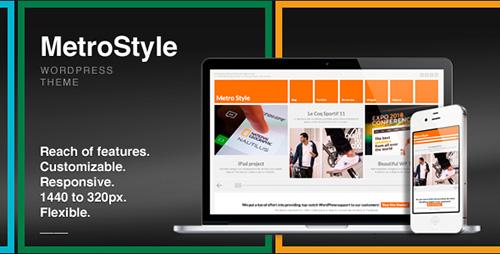 ThemeForest - MetroStyle v1.5.1 - Responsive All Purpose WordPress Theme - 2921313