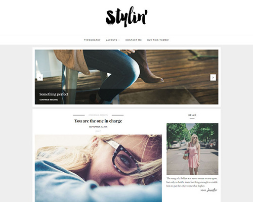 Clean Wordpress Theme - Stylin v2.1.2 - CM 384478