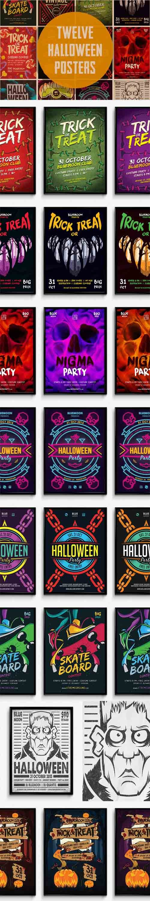 PSD - 12 Halloween Posters