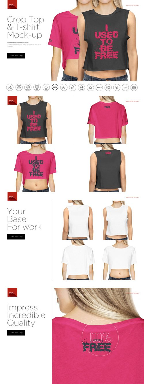 CM - Crop Top & T-Shirt Mock-up 397510