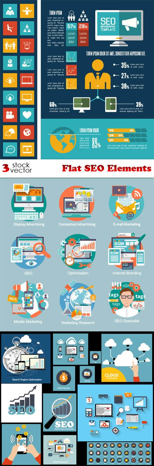 Vectors - Flat SEO Elements