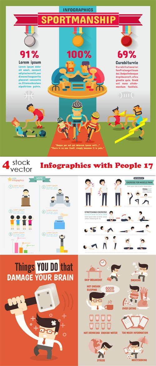 Vectors - Infographics with People 17