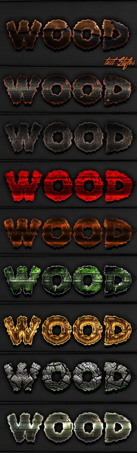 GraphicRiver - Best Wood Text Styles 13117572