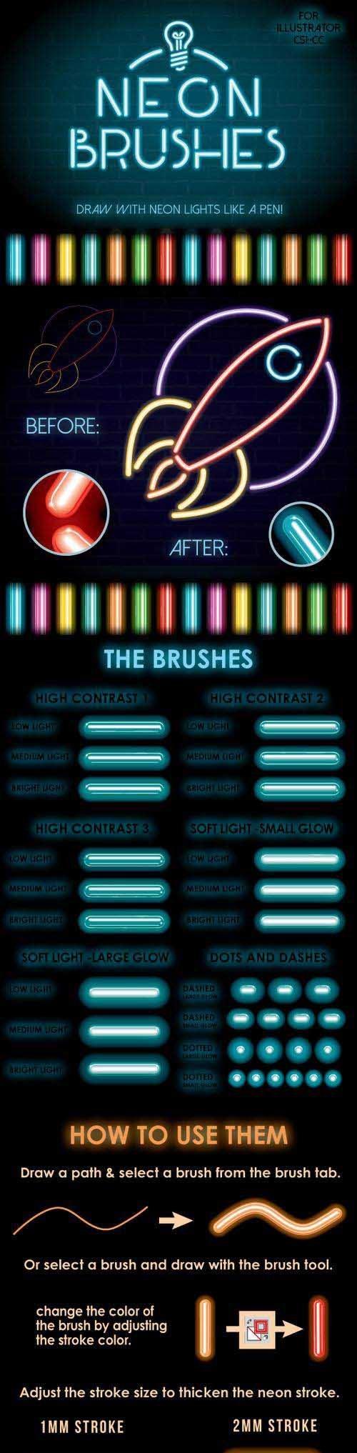 GR - Neon Brushes 13195623