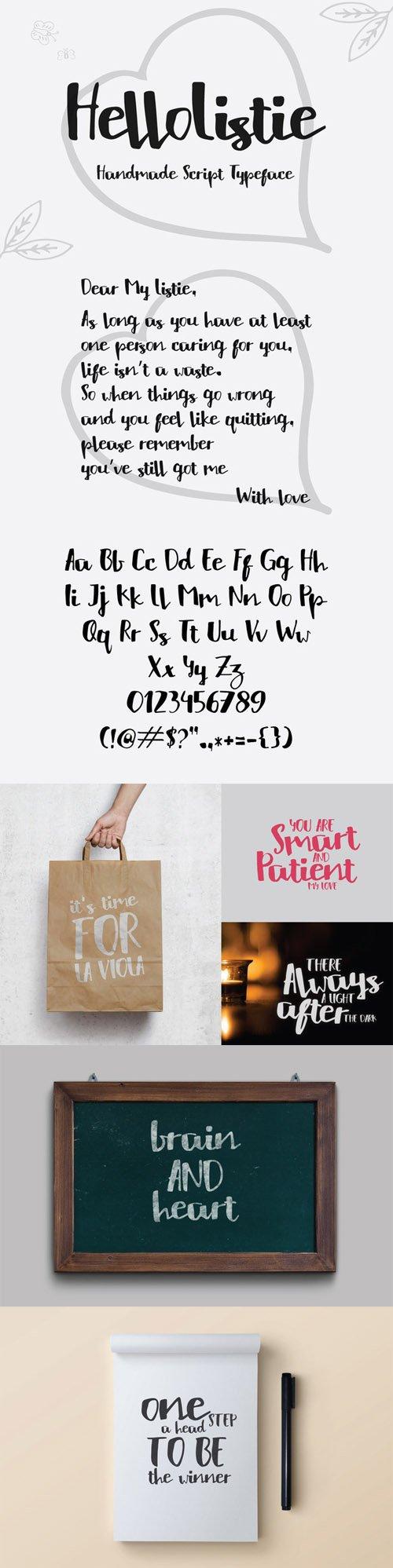HelloListie Typeface Font