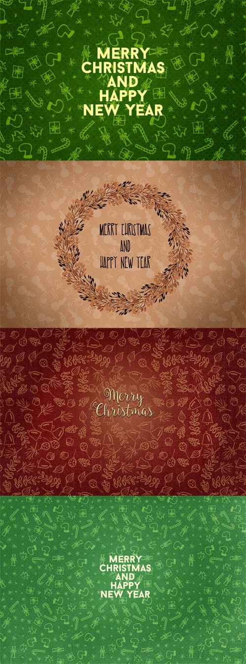 3 Christmas Cards PSD Template