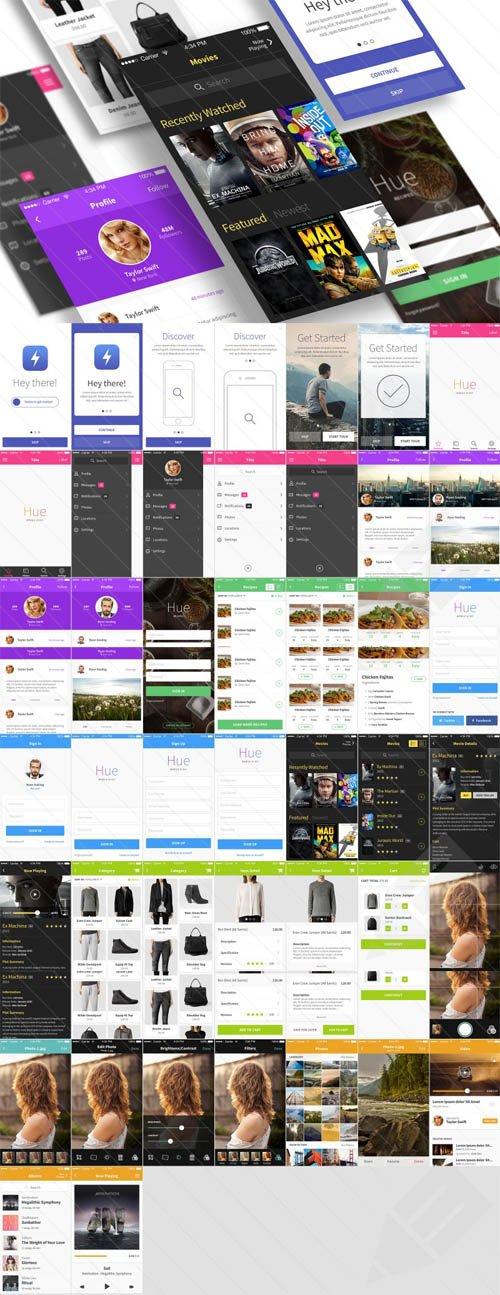 Mobile UI Kit - Hue