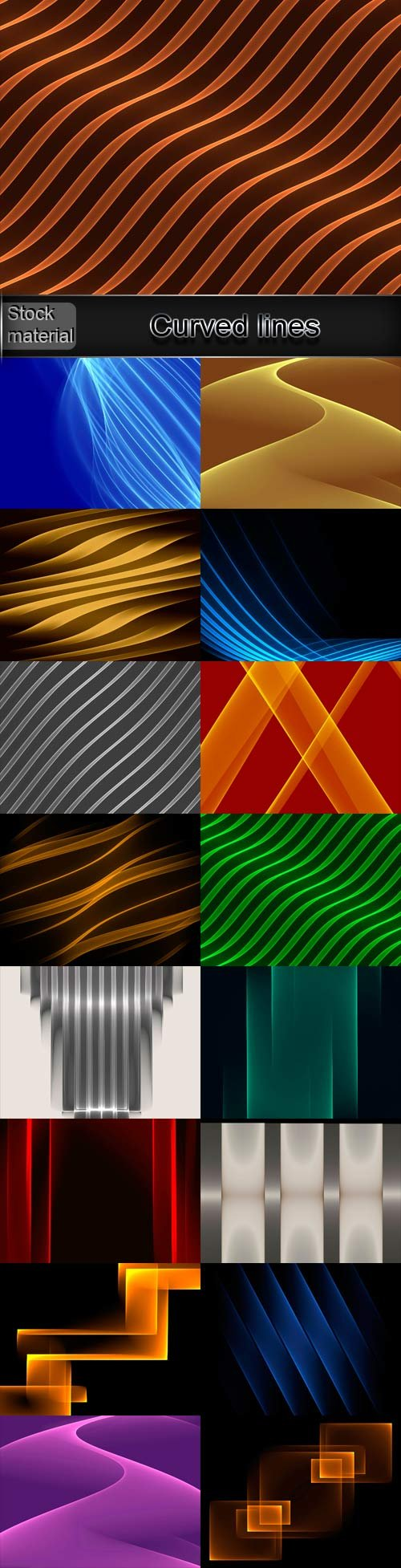 Curved lines abstract backgrounds