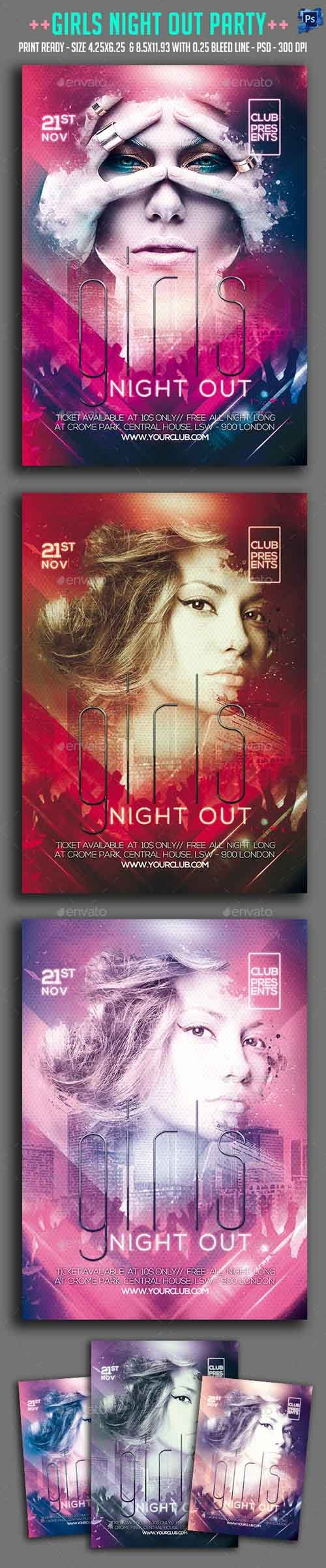 PSD - Girls Night Out Party Flyer 13220670