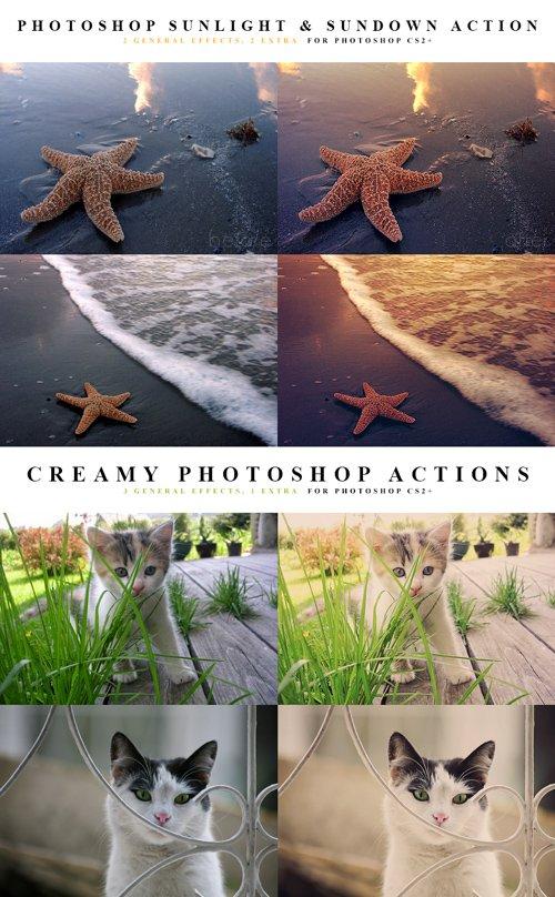 Photoshop Actions - Sunlight, Sundown, Creamy