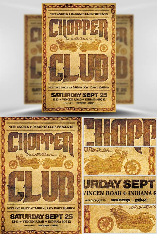 Flyer Template PSD - Chopper Club