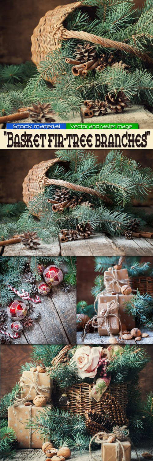 Basket fir-tree branches