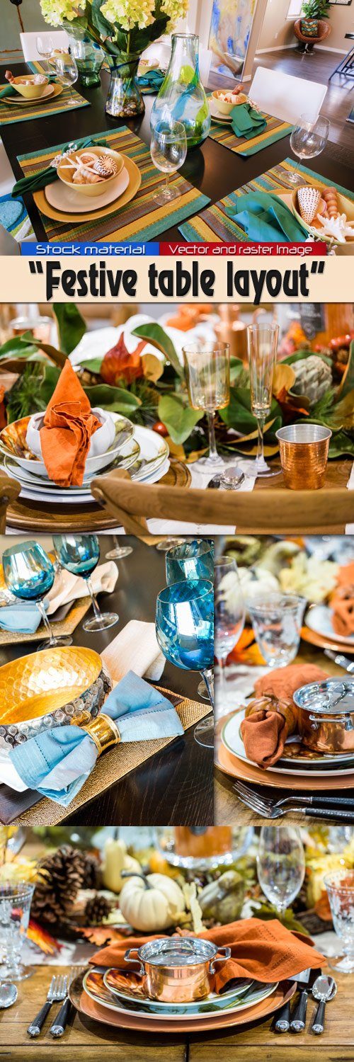 Festive table layout