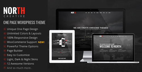 ThemeForest - North v2.1.1 - One Page Parallax WordPress Theme - 8454561
