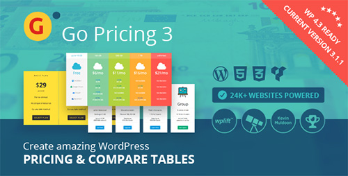 CodeCanyon - Go Pricing v3.1.1 - WordPress Responsive Pricing Tables - 3725820