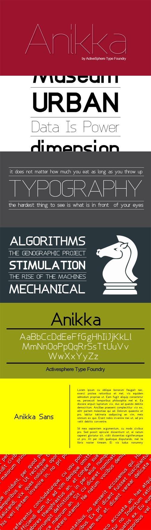 Font - Anikka Sans