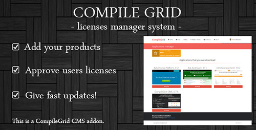 CodeCanyon - Licenses manager v1.0 - 13118386