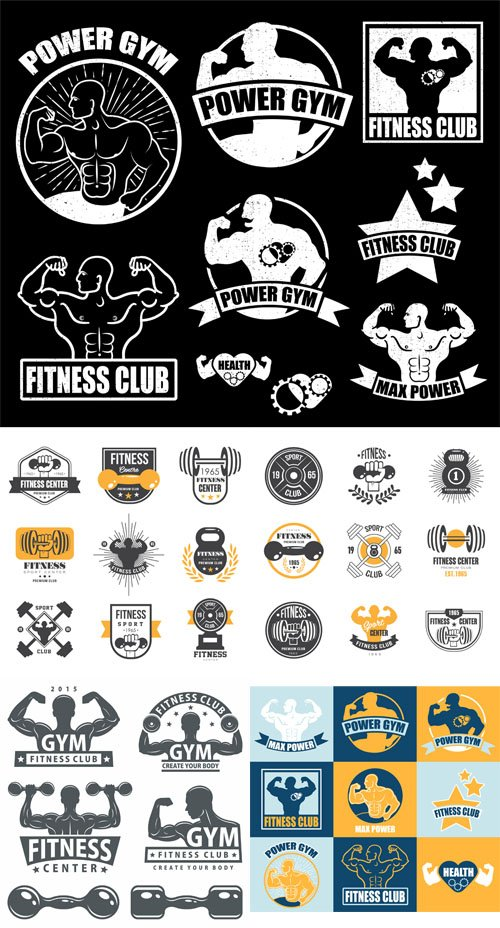 Vector Gym and Fitness Sport Logos