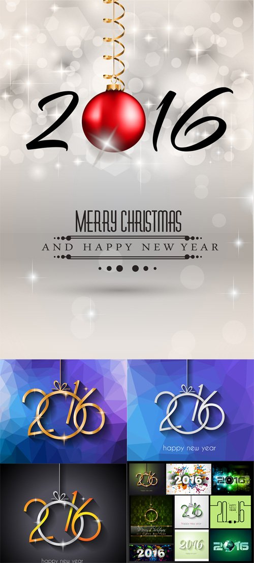 Vector Background with New Year 2016