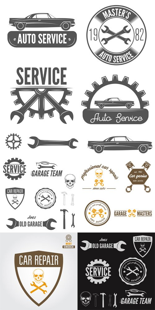 Vector Set - Car Repair