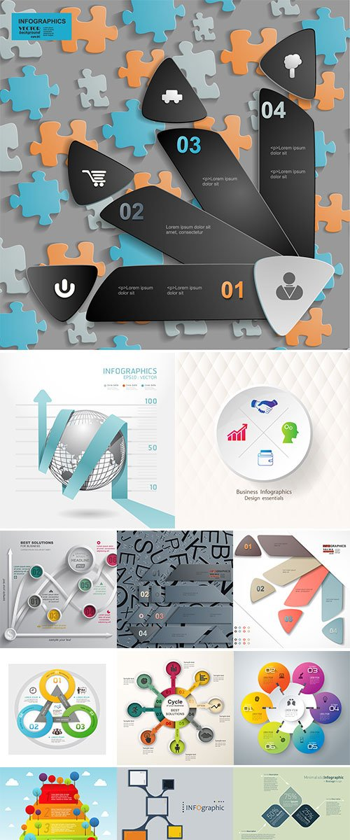 Stock vector Business infographics template for presentation