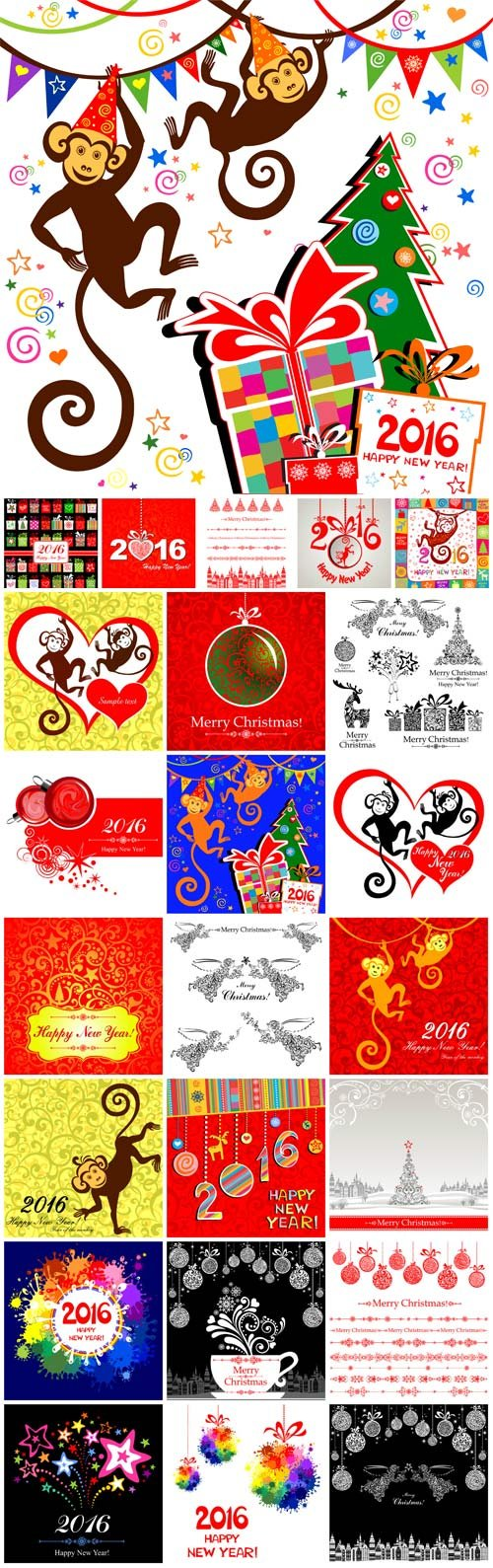 Merry Christmas, New Year vector, backgrounds