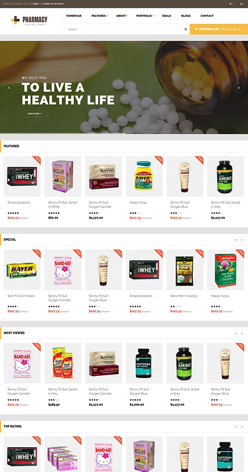PavoThemes - Pav Pharmacy - The Best Multi-Purpose Responsive OpenCart 1.5.6.x Theme