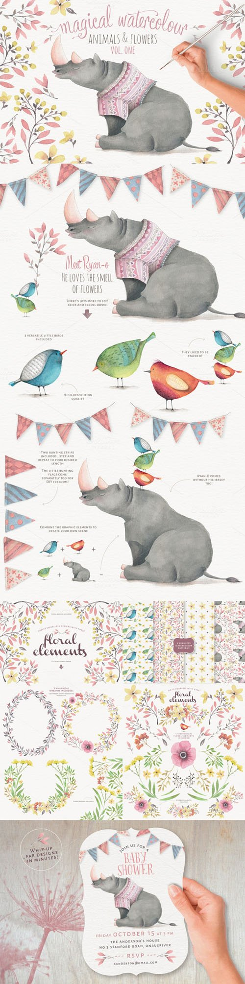 Magical Watercolor graphics Volume 1 - Creativemarket 291934