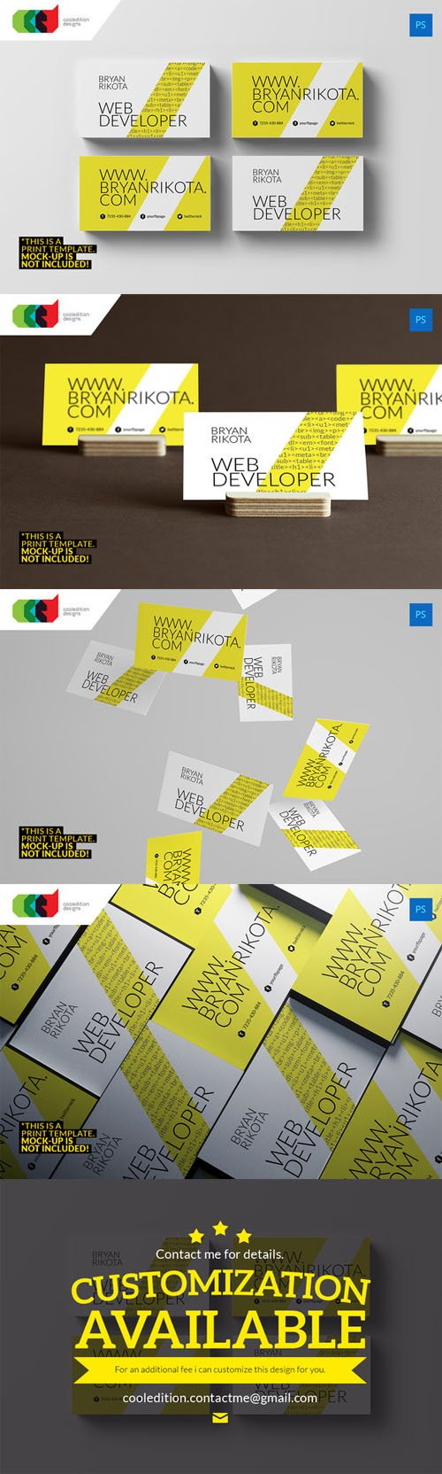 Web Developer - Business Card 71 - CM 314039