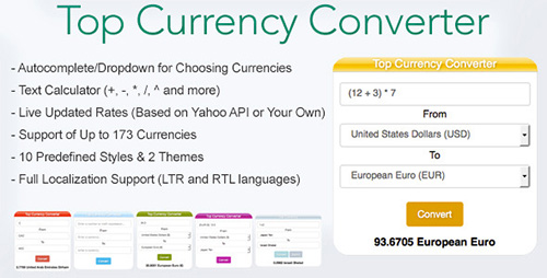 CodeCanyon - Top Currency Converter v1.0 - 13116465